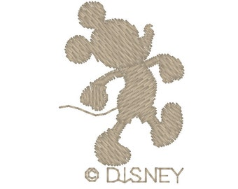 Mickey Mouse Embroidery Design Silhouette  Instant Download