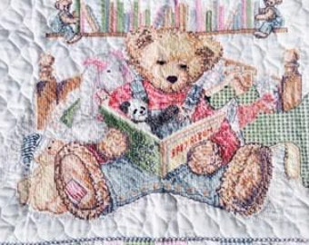 """Vintage Gorgeous Needle point 30"""" x 40"""" Baby Quilt"""