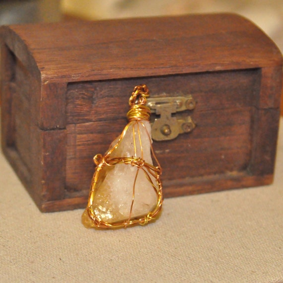 Wire Wrapped Citrine Point
