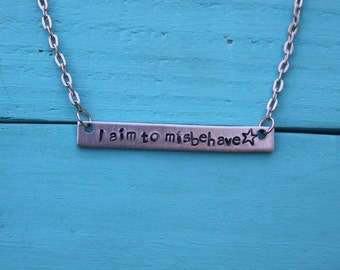 I aim to misbehave Firefly inspired necklace