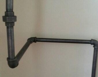 Steel Pipe Corner Bookshelf