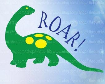 Dinosaur Roar svg, cutting file, printable transfer, dino roar, dinosaur vector for heat transfer, cameo or cricut