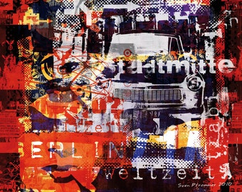 Weltzeit IV by Sven Pfrommer - Artwork on canvas is ready to hang