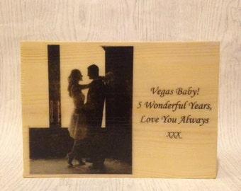 Photo on wood. Wooden photo. Photo gift. Photo keepsake. Vintage photo. Wooden Photo Block 14.5x20cm