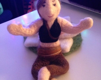 Needle Felted Yoga Doll - Made to Order