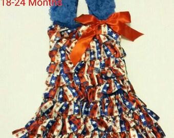 4th of july dress, ruffle dress