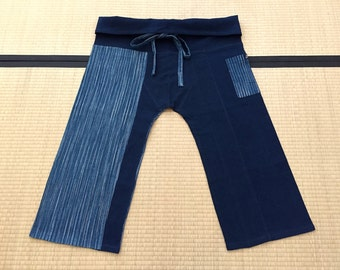 Free Size Indigo Thai Fisherman Pants - TPM4