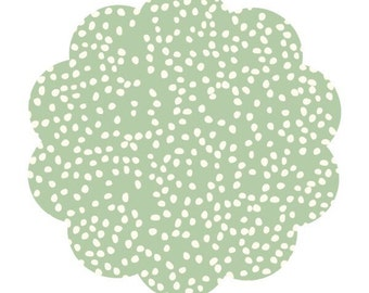 Mint cream fabric.Firefly dots in mint. Organic apparel and quilt cotton fabric. Modern print DIY sewing fabric by the yard. Baby fabric.