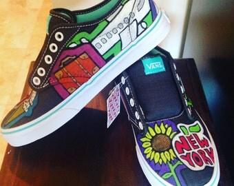 Custom Painted Vans Sneakers