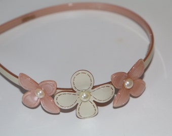 handcrafted cellulose flower hairband