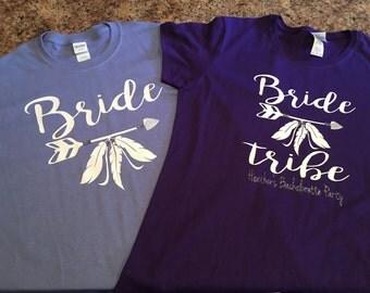 Brides Tribe tribal tshirts for bachelorette party. Bridal party tshirts.
