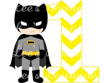 Batman Superhero Iron on Transfer Custom Made