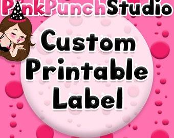 DIY Printable Label Sticker Tag Your Custom Design