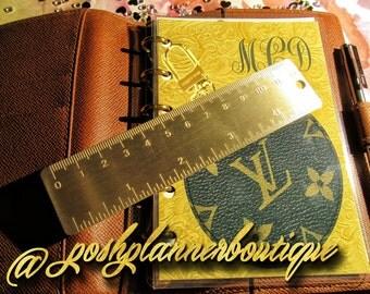 Etched Brass Planner/Agenda Ruler
