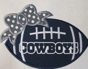 Ready To Ship in 3-5 Business Days - Team Cowboys - Iron On or Sew On Embroidered Applique