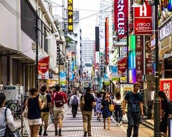 Street of Ueno Tokyo Digital Photography Print