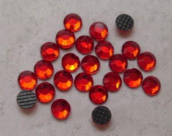 Hotfix rhinestones SS10 Siam Red