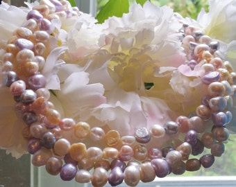 Pastel Colored Freshwater Pearls