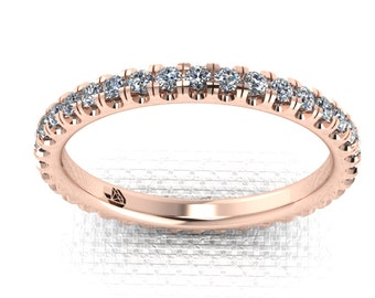 0.35cts + Diamond Eternity Band set in 18k Rose Gold