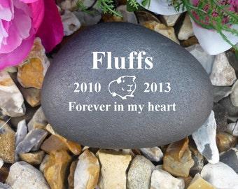 Personalised Pebble (Stone Effect) - Pet Memorial - Weatherproof - Personalised  - Guinea Pig