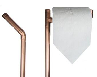 toilettenpapierhalter poliert toilettenpapier stand 3 rollen kupferrohr industrie modern minimalistisch - Diy Toilettenpapierhalter Stand