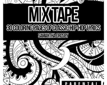 Adult Coloring Book, Mix Tape