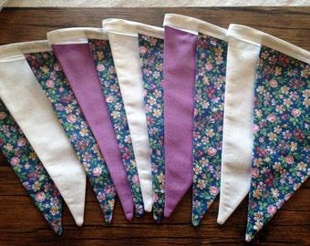 Pennants - sweet flowers Garland