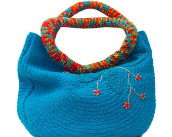 hand made turquoise bag