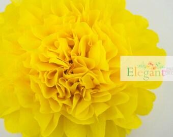 Dandelion l 1 tissue paper Pompoms/single pompom/nursery room decoration/ baby shower/wedding/engagement/bridal shower/DIY/centerpiece