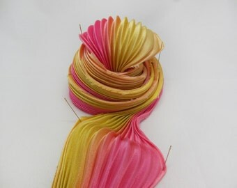 Watermelon Shibori ribbon/3334 from ArtisticWeavers on Etsy