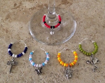 Garden Critters Wine Charms