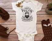 Bearded Daddy Onesie®, Fathers Day Gift From Baby, Cute Baby Clothes, Fuzzy Daddy Onesie, Beard Onesie, Funny Baby, Dad Onesie, Baby Boy
