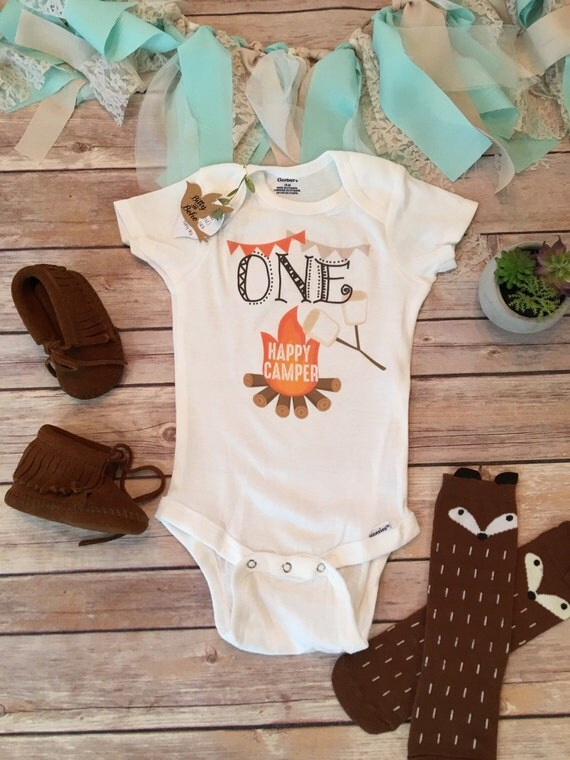 One Happy Camper Onesie 174 First Birthday Outfit By Bittyandboho