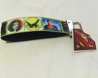 Super Hero Comic  Key Fob Keychain
