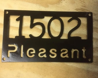 House Address Sign