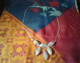 silver plated beauty necklace