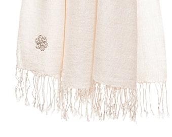 50% cashmere/silk scarf - nature (SHKS5)
