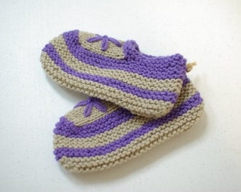 Soft and comfortable warm Hand-Knitted Slippers, Gift Idea