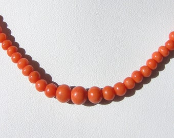 Victorian Salmon Coral Necklace