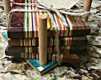 Sk8wood coasters and holder