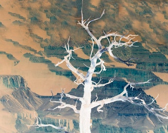 Abstract crooked tree  wall art Arts & Collectibles Museum Quality Fine Art Paper or Kodak Endura Lustre