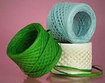 Raffia Ribbon & Memory Thread