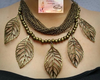 Old gold chain necklace