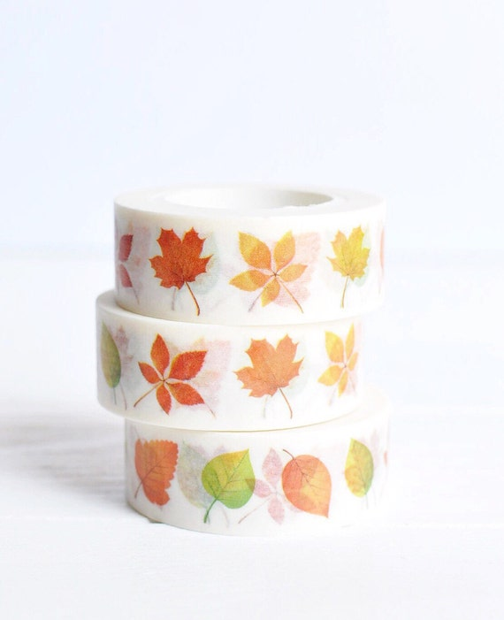 Fall Leaves Washi Tape 15mm X 10m Autumn Washi Tape