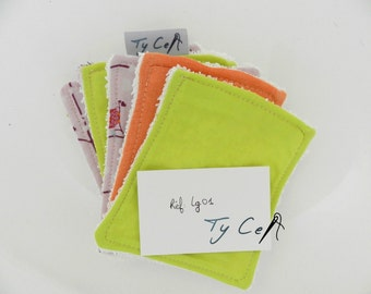 lot of 5 washable make-up removing wipes, Washcloths baby