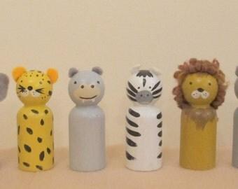 Peg Doll set: Safari collection