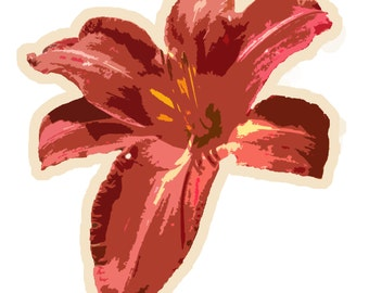 Red Lily Sticker