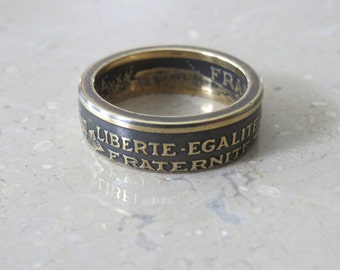French Two Francs Coin Ring 1941