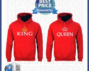 king and queen hoodies king and queen pullover mr by. Black Bedroom Furniture Sets. Home Design Ideas