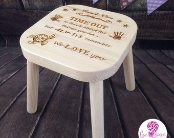 Personalised naughty time out stool